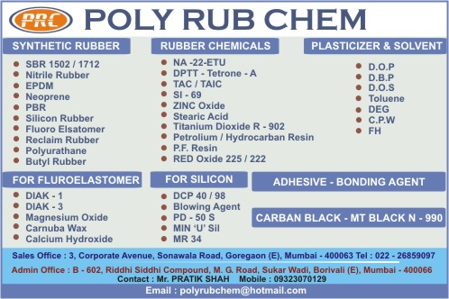 Poly Rub Chem Mumbai Synthetic Rubber Chemicals Solvents